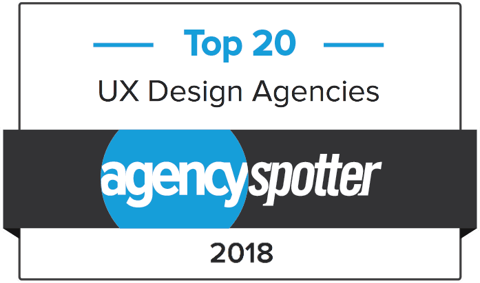 Agency Spotter have named us a Top 20 User Experience Agency in 2018