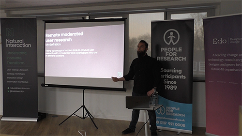 UCD Bristol 7 - Adam Babajee-Pycroft on moderated remote user research in Lean UX