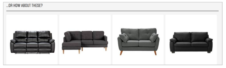 Great example of product recommendations from Argos