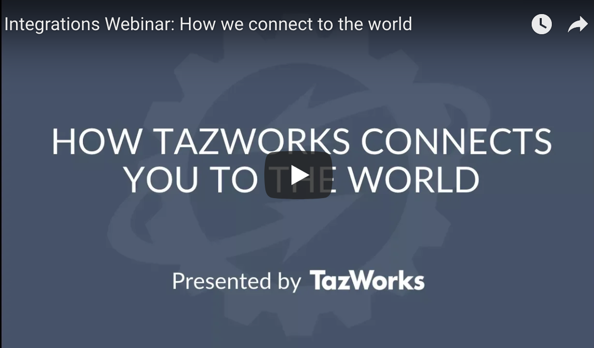 Integrations Webinar: How TazWorks Connects You to the World
