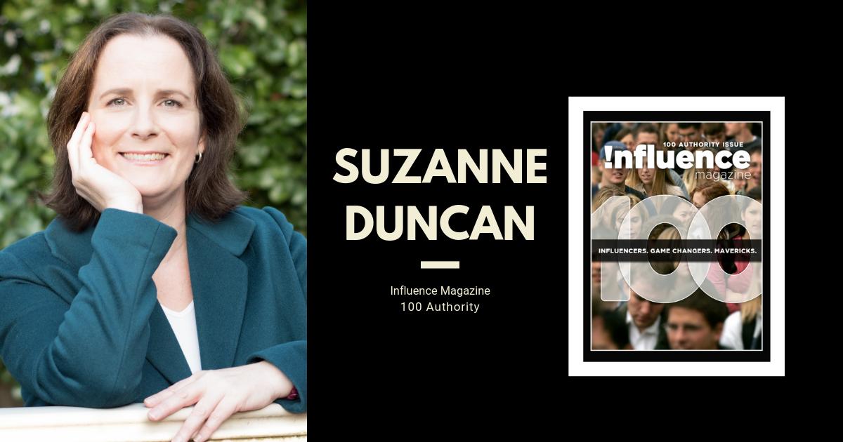 Suzanne Duncan Influence Magazine 100 Authority