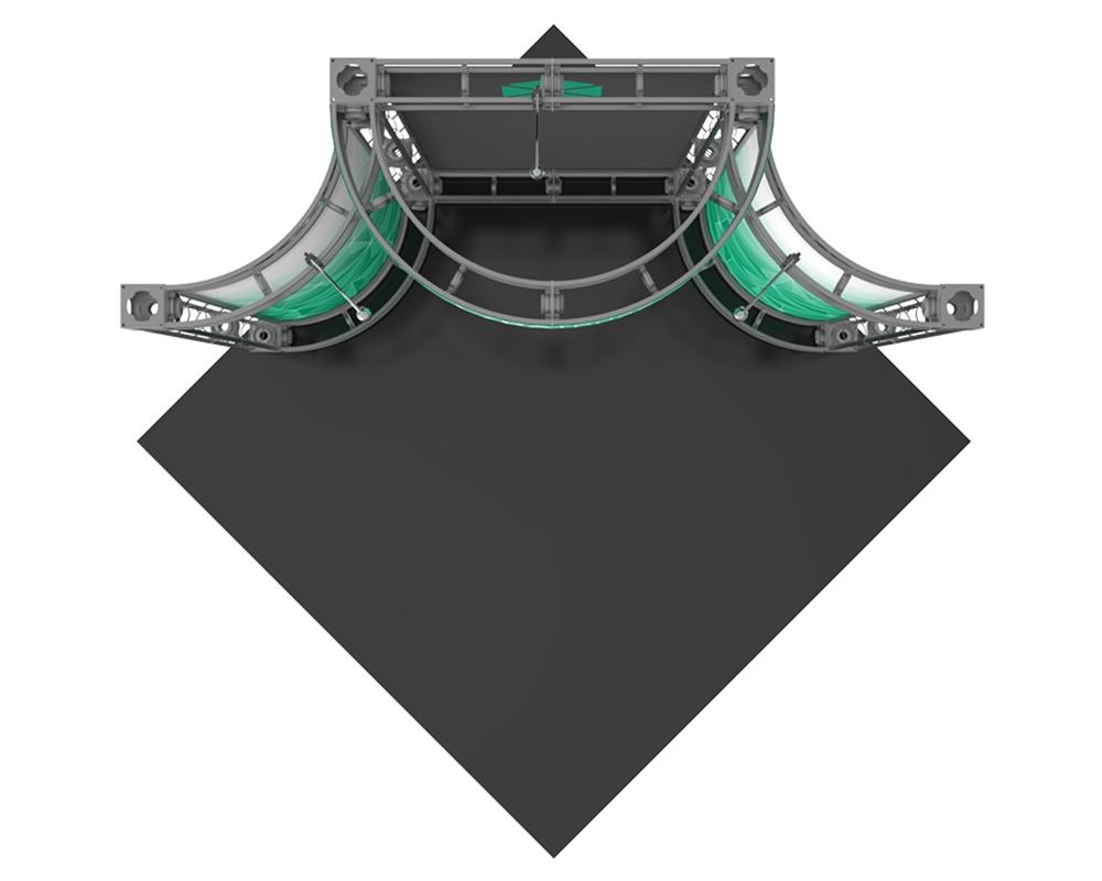 Lyra-2 10 x 10 Corner Orbital Truss Display
