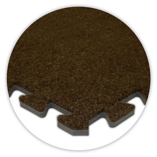 Premium Soft Carpet in Brown