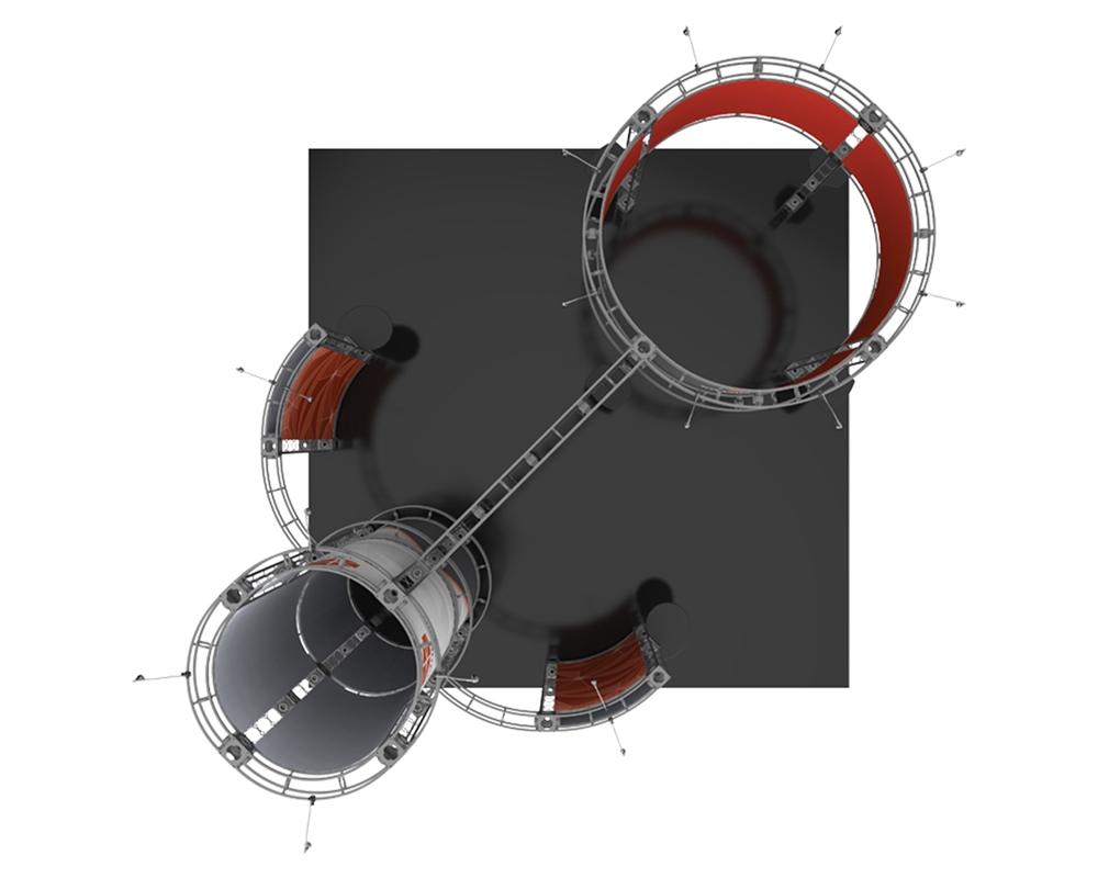 Corvus 20 x 20 Orbital Truss
