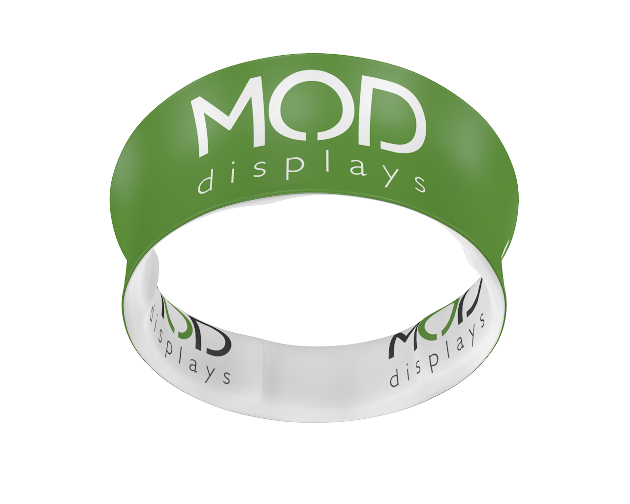 Blimp Tube Tapered Circular Hanging Sign Double-Sided Graphic
