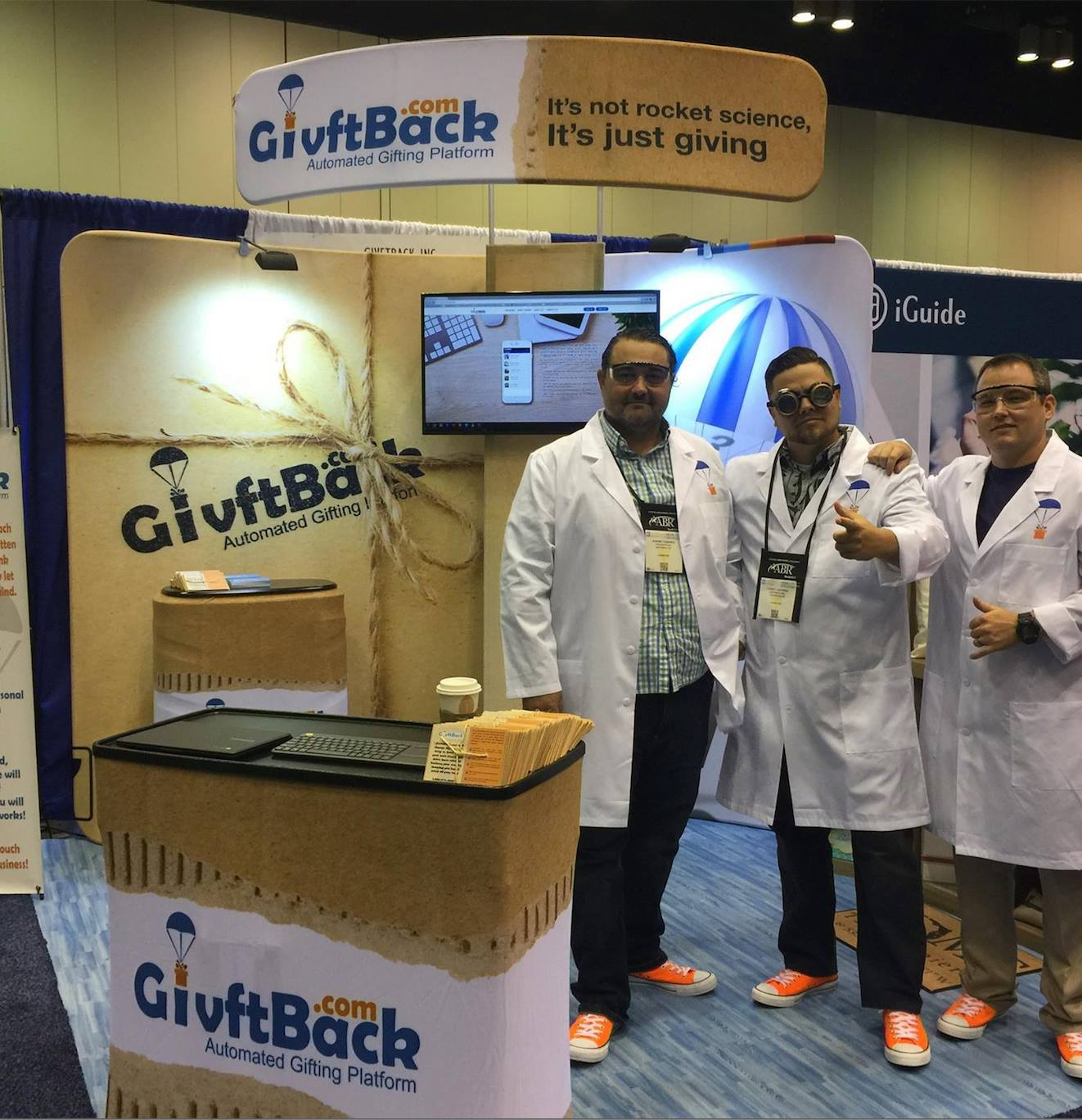 Example of brand awareness booth from GivftBack