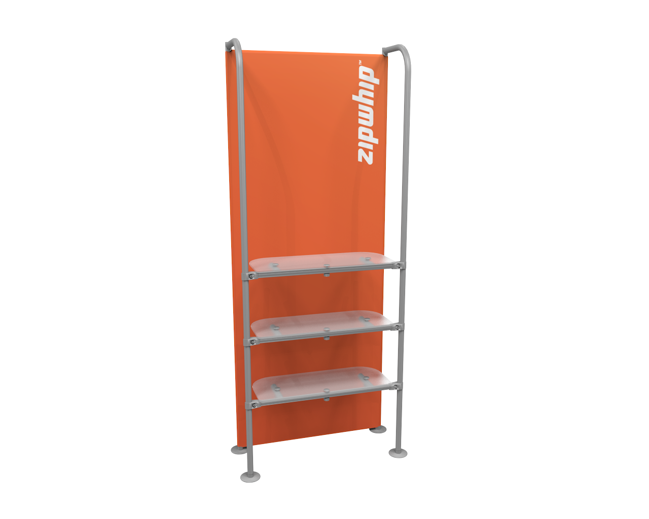 "Waveline Merchandiser 89"" Three Shelves"