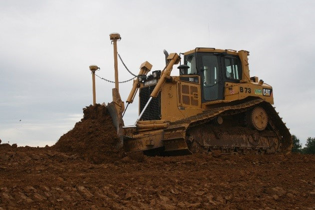 Dozer equipped with Trimble Operating System