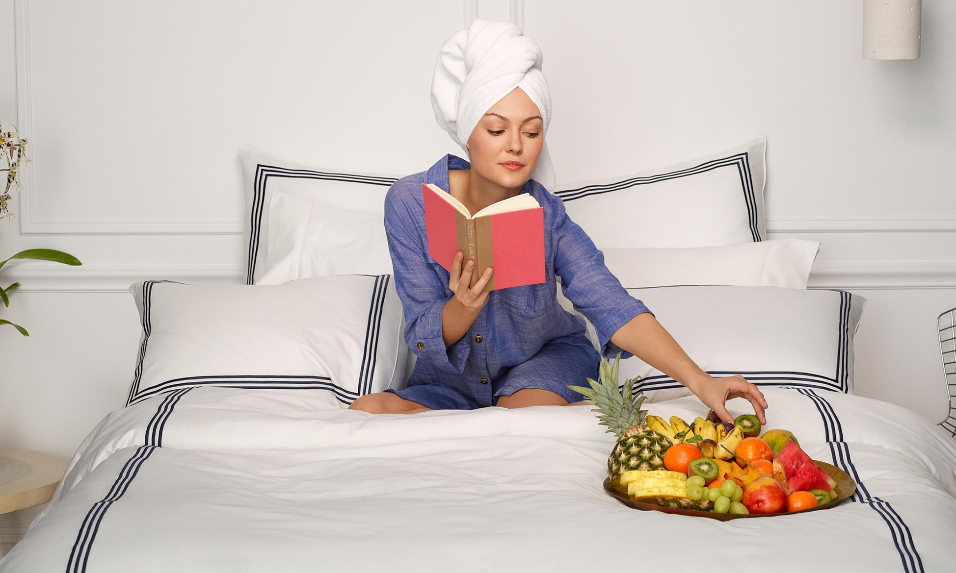 Woman Sitting on Premium Sheets
