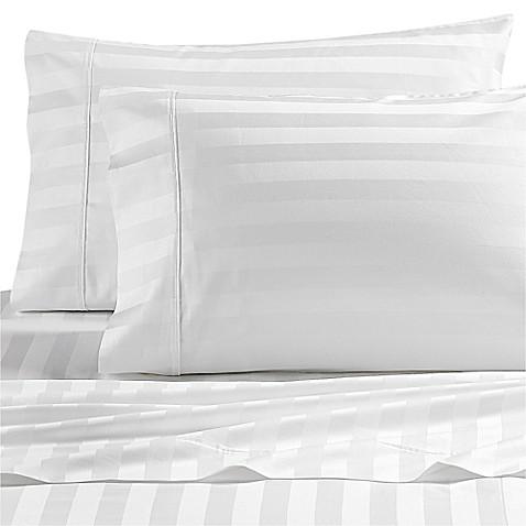 Wamsutta Dream Zone Stripe 1000 Thread Count Pimacott Pillowcases Set Of 2