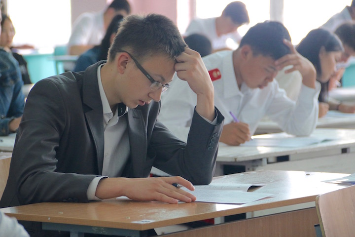 Students in Kyrgyzstan take the National Admissions Test for university. USAID has been supporting the testing as means to expand access to higher education. Photo by USAID, licensed under (CC by 2.0).