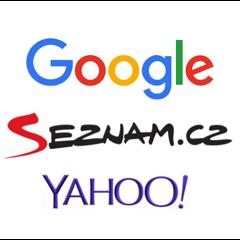 Internet | loga google, seznamu a yahoo