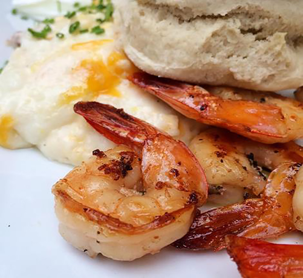 Shrimp and Grits with Eggs