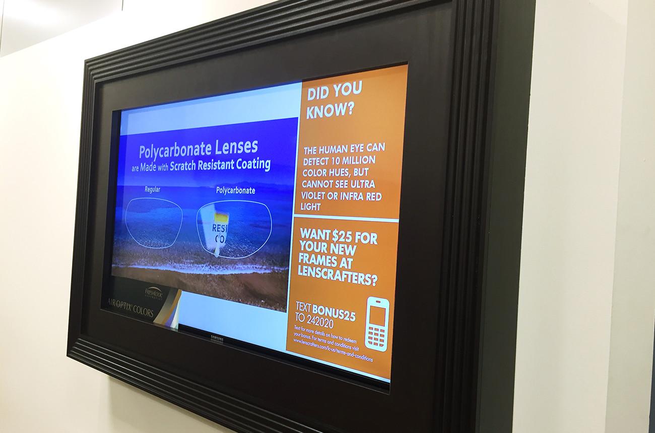Optometrist Digital Display