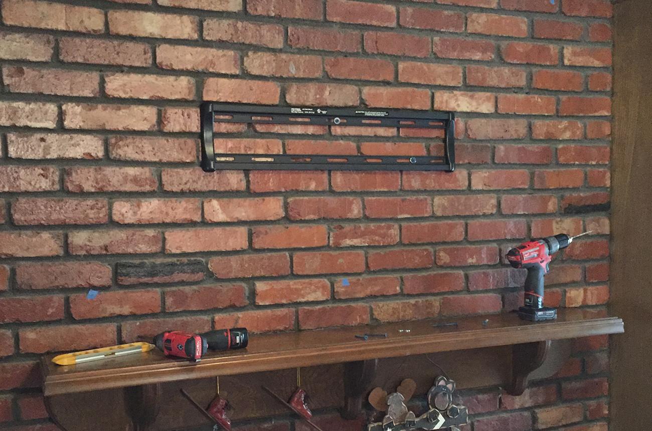 Brick Mantle TV