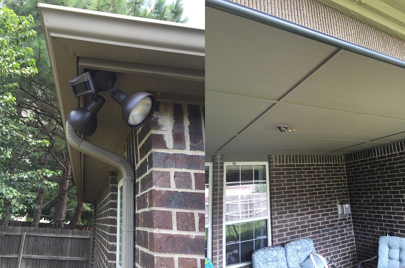 Exterior Lights & Fan