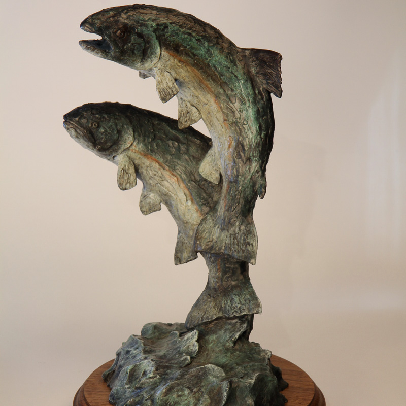 2 Fish Bronze Sculpture