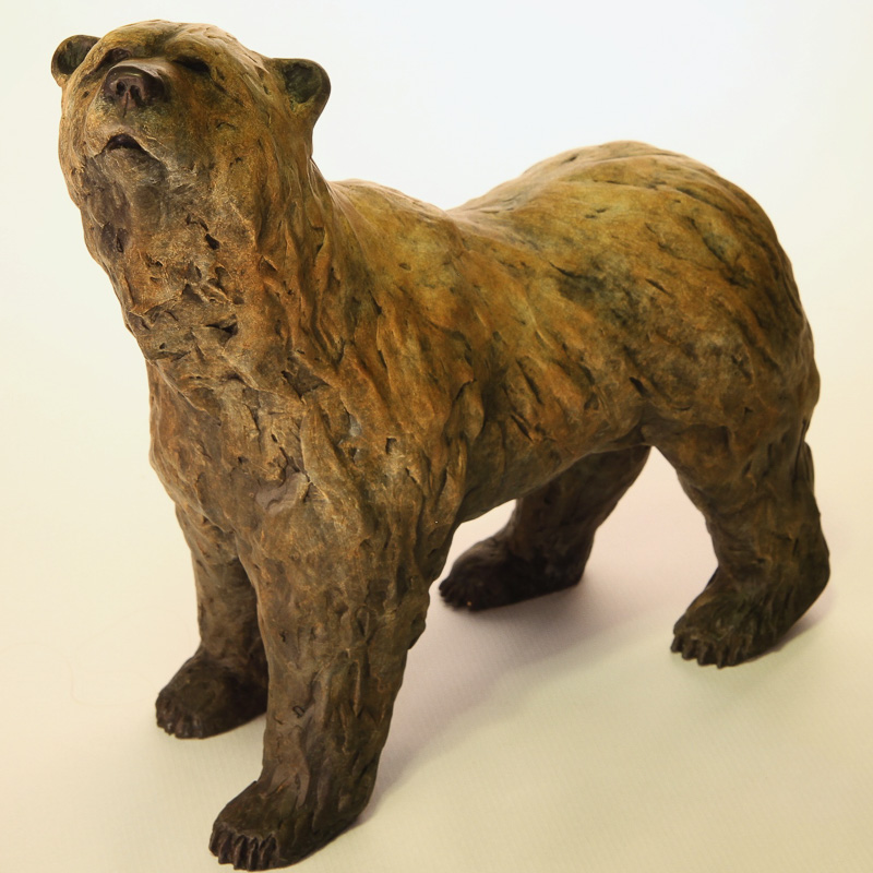 Walking bear Bronze Sculpture