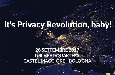 Maggio 2018: it's Privacy Revolution, baby! - workshop gratuito
