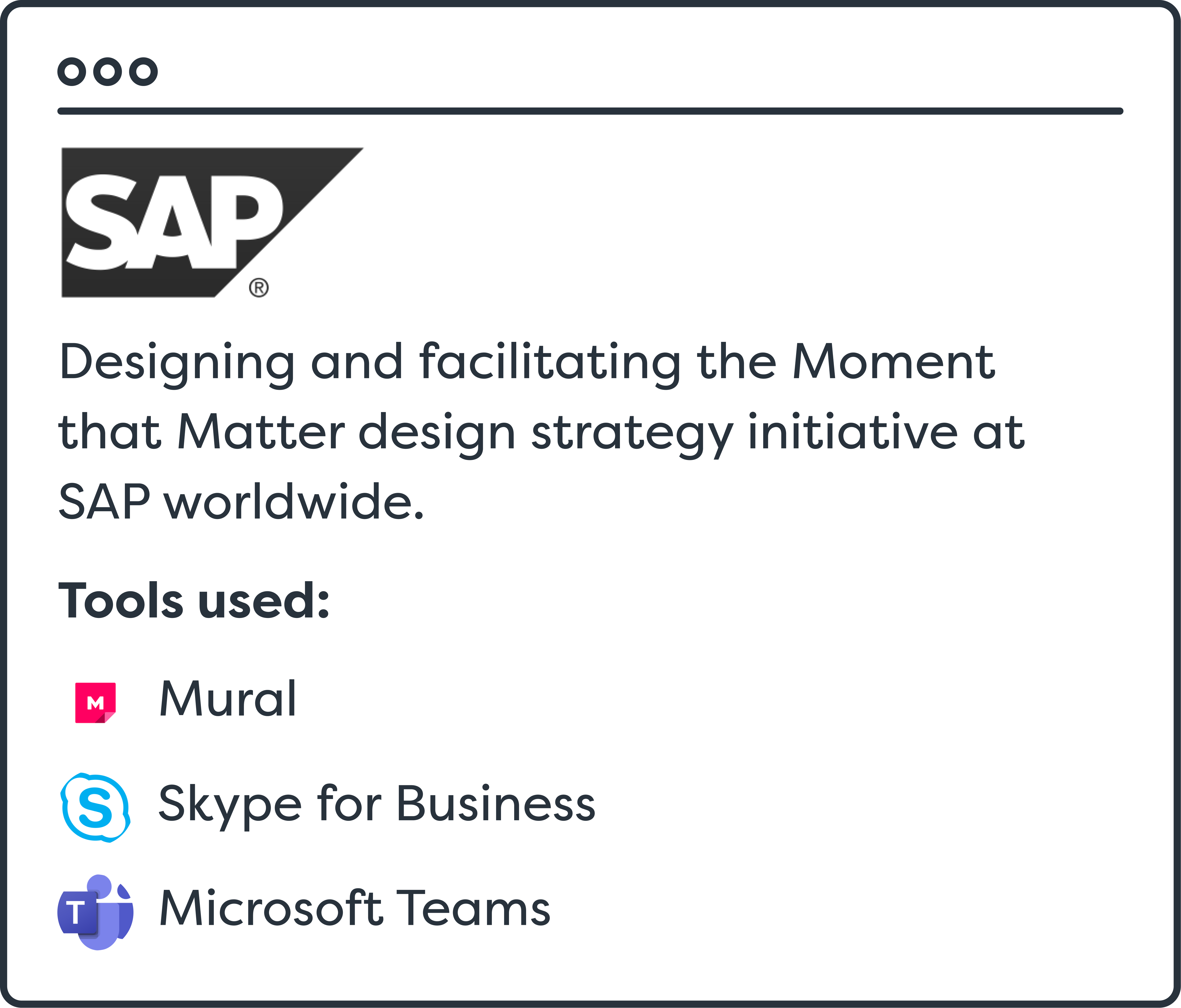 SAP Case Summary
