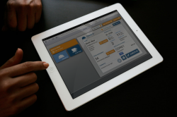 Hotel app on tablet - running Hetras Cloud Based Hotel Management Software
