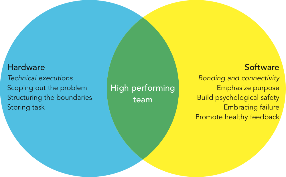 Hardware and Software of High Performing Team