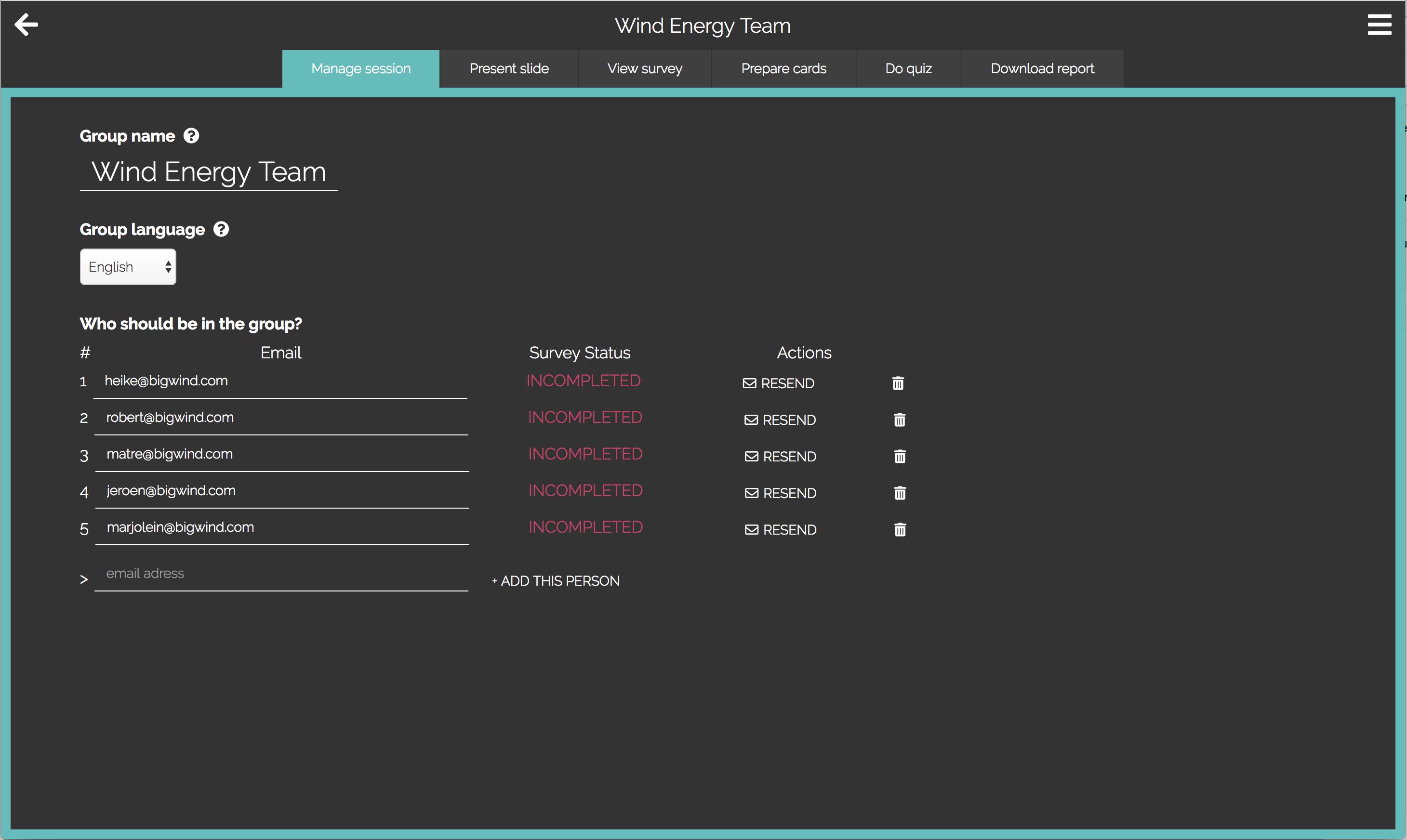 WeQ App Master Coach dashboard
