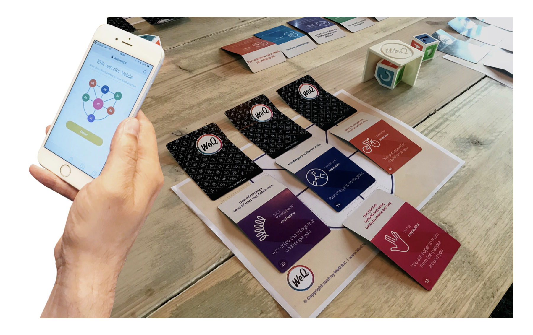 WeQ session, personalization of cards