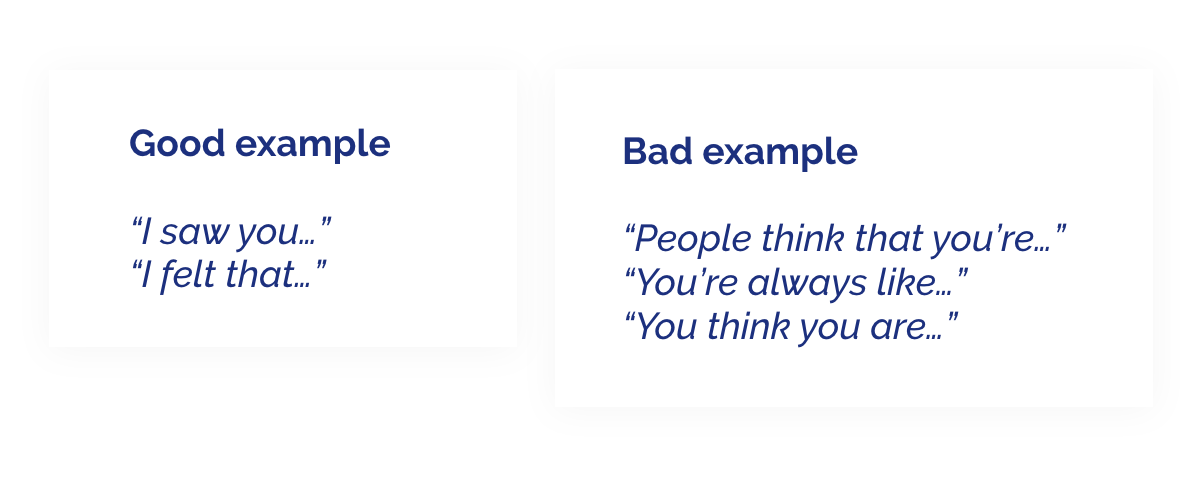 good and bad examples of giving constructive criticism