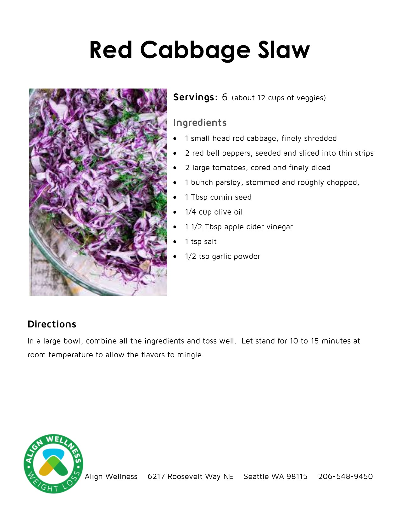 Red Cabbage Slaw Ideal Protein Recipe