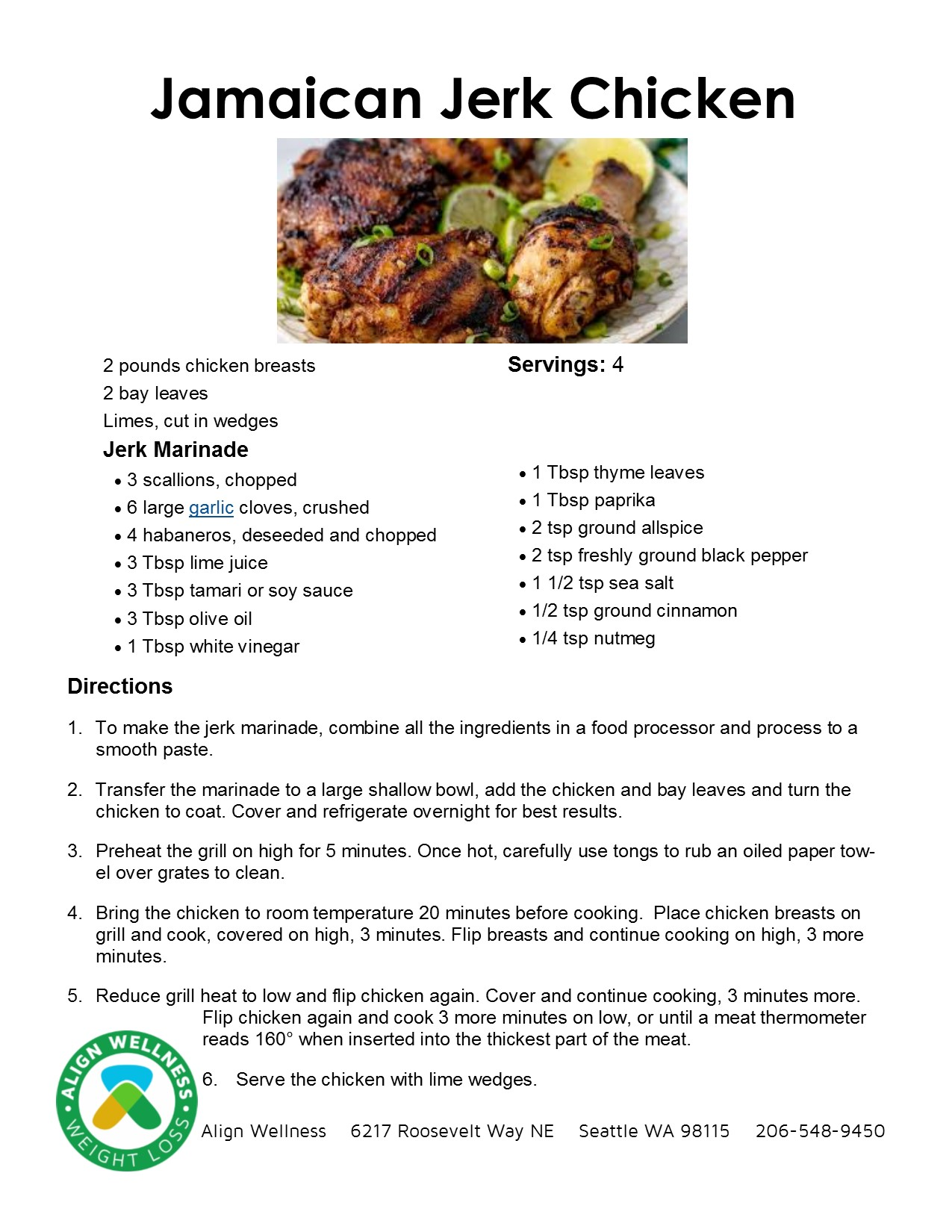 Jamaican Jerk Chicken Ideal Protein Recipe