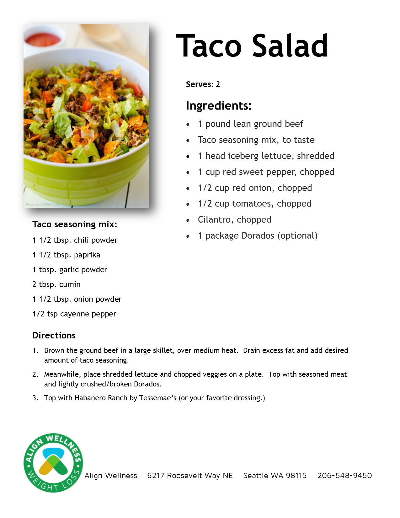 Taco Salad Ideal Protein Recipe