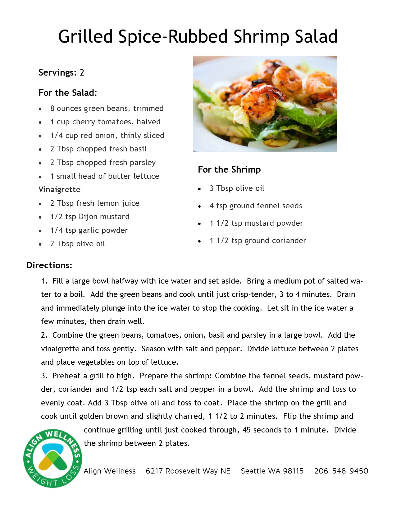 Grilled Spice-Rubbed Shrimp Salad Ideal Protein Recipe