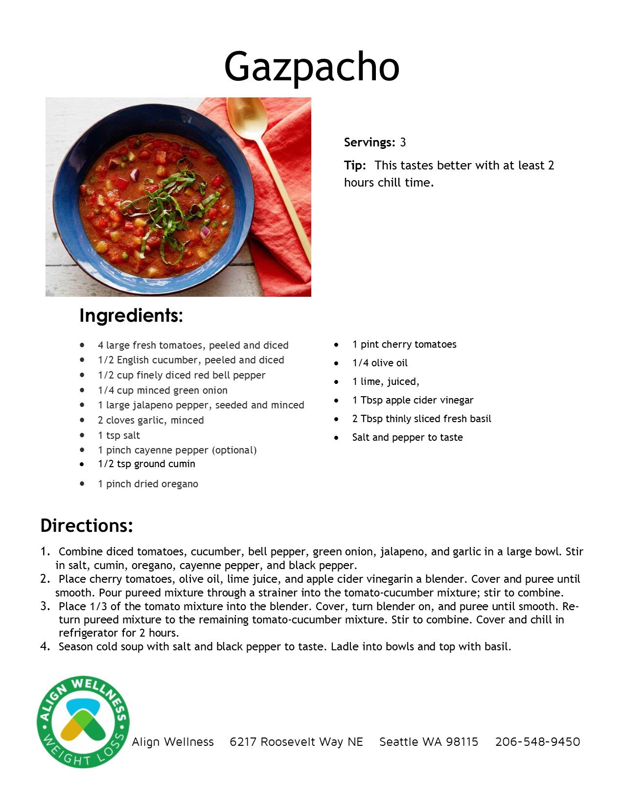 Gazpacho Ideal Protein Recipe