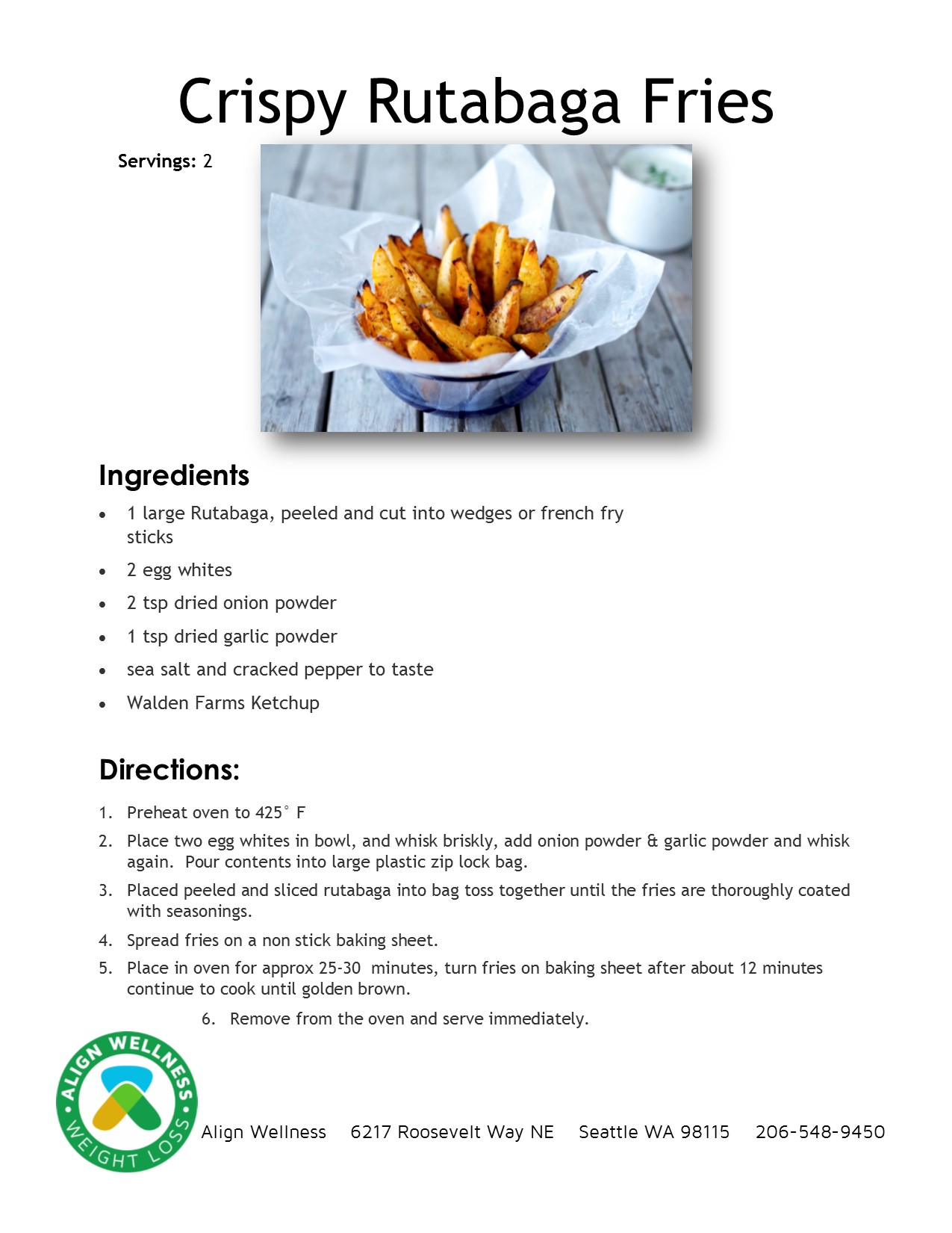 Crispy Rutabaga Fries Ideal Protein Recipe