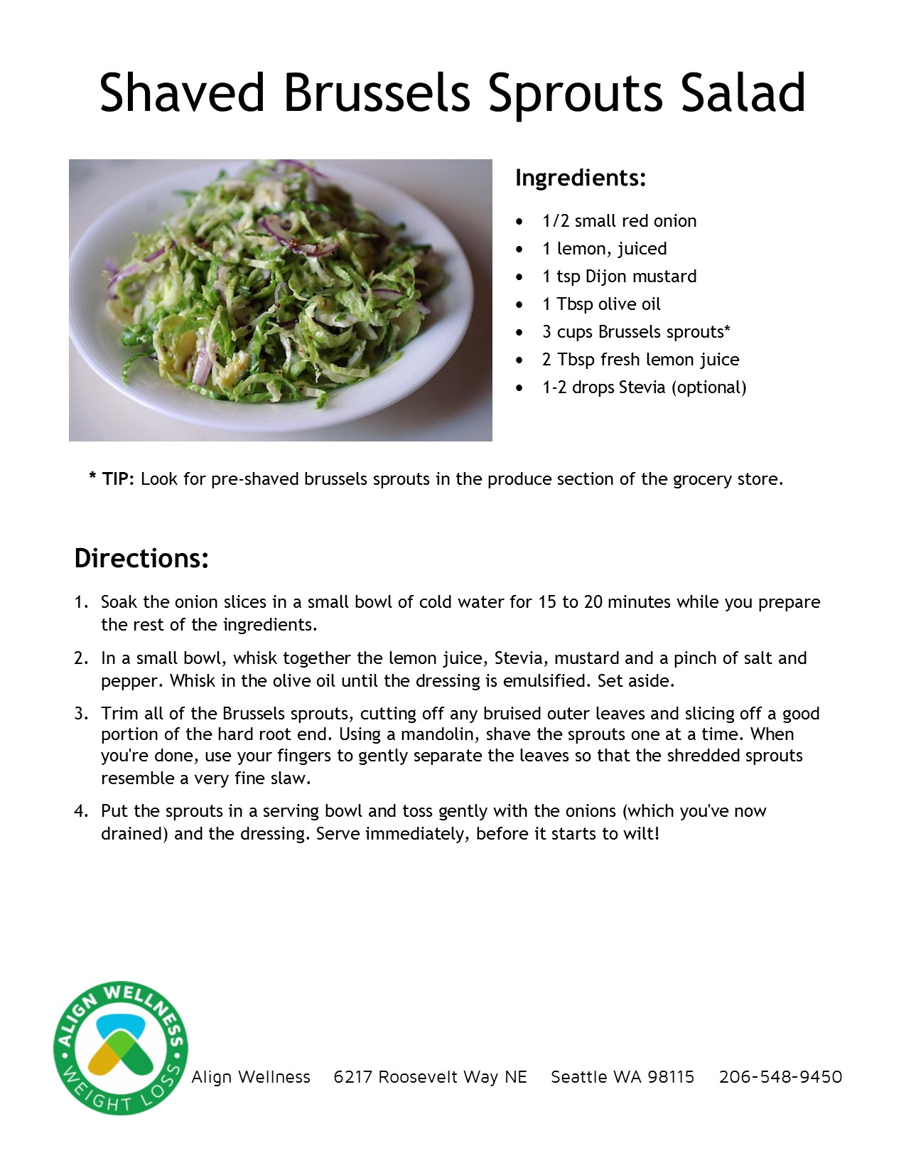 Shaved Brussels Sprouts Salad Ideal Protein Recipe