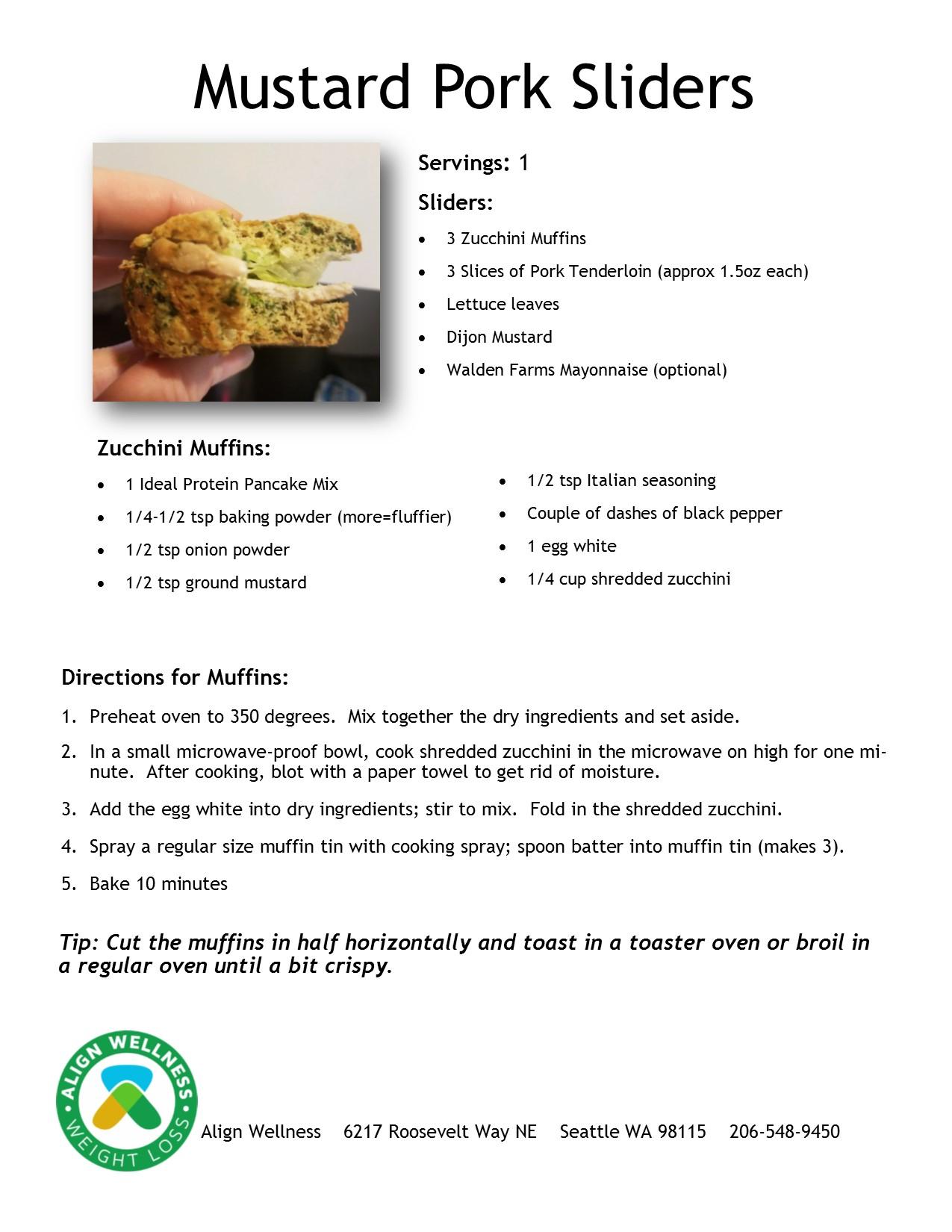 Mustard Pork Sliders Ideal Protein Recipe