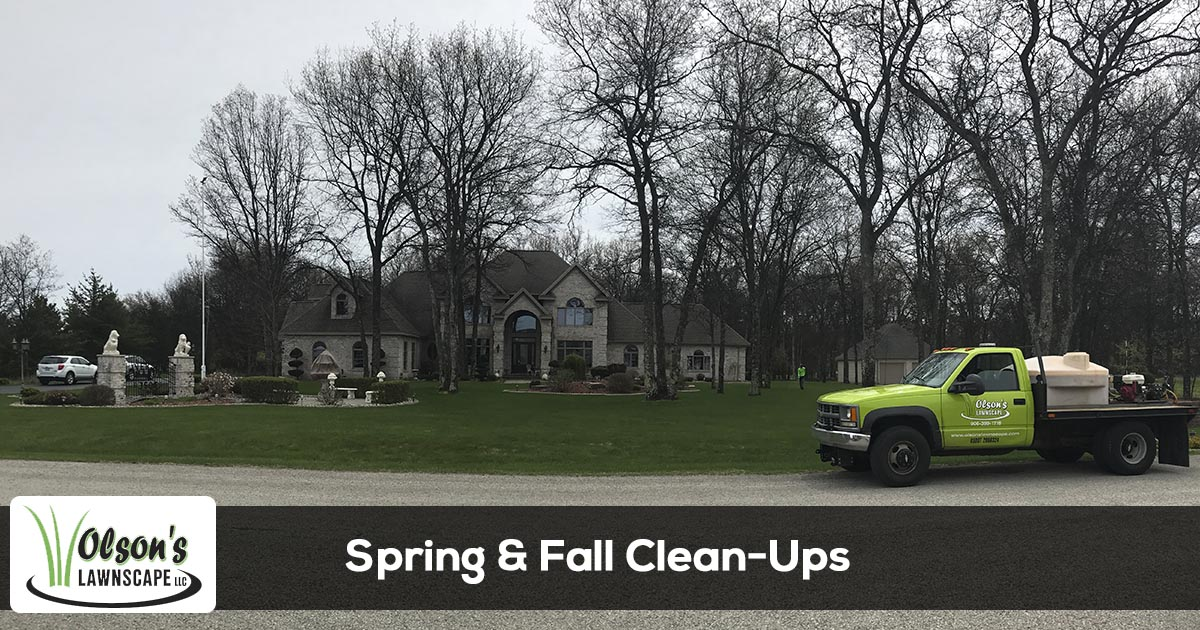 Spring & Fall Clean Up services in Escanaba, Marquette, Gladstone, Iron Mountain, Menominee Michigan