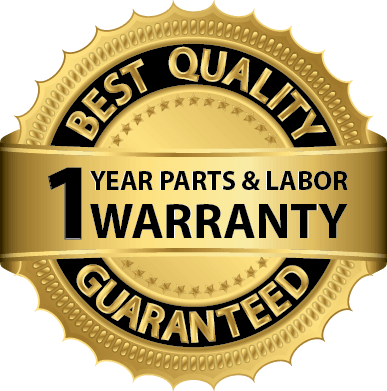 1 year parts and labor warranty guaranteed