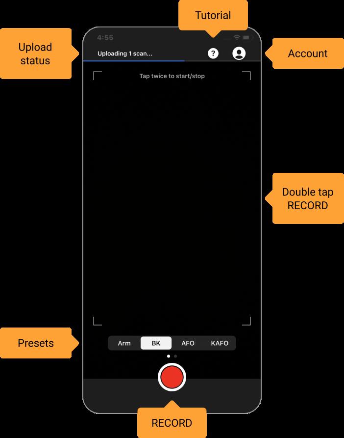 Comb 3D Scanner app interface