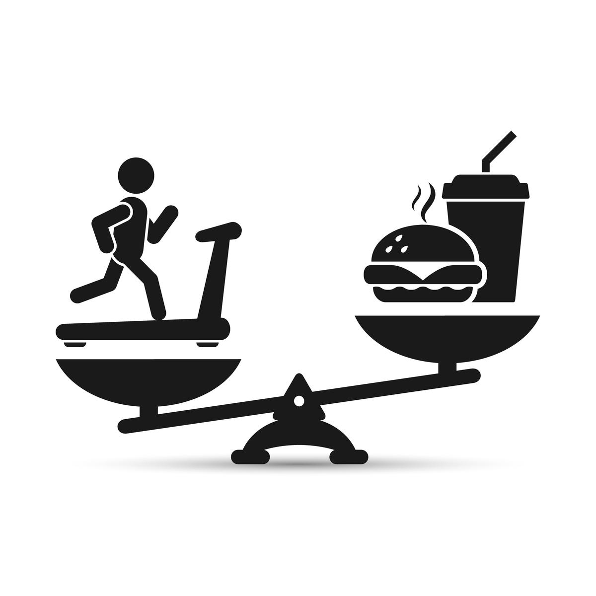 diet vs exercise icon