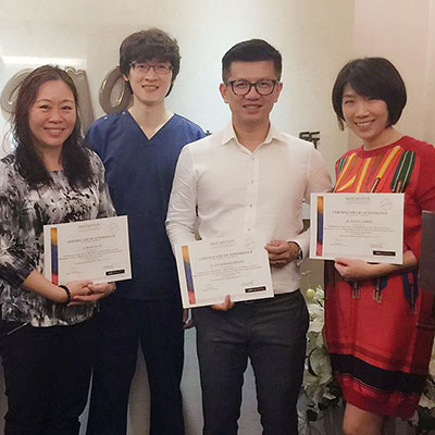 Attended an injectable training conducted by Dr Fang-Wen Tseng, a dermatologist from Taiwan.