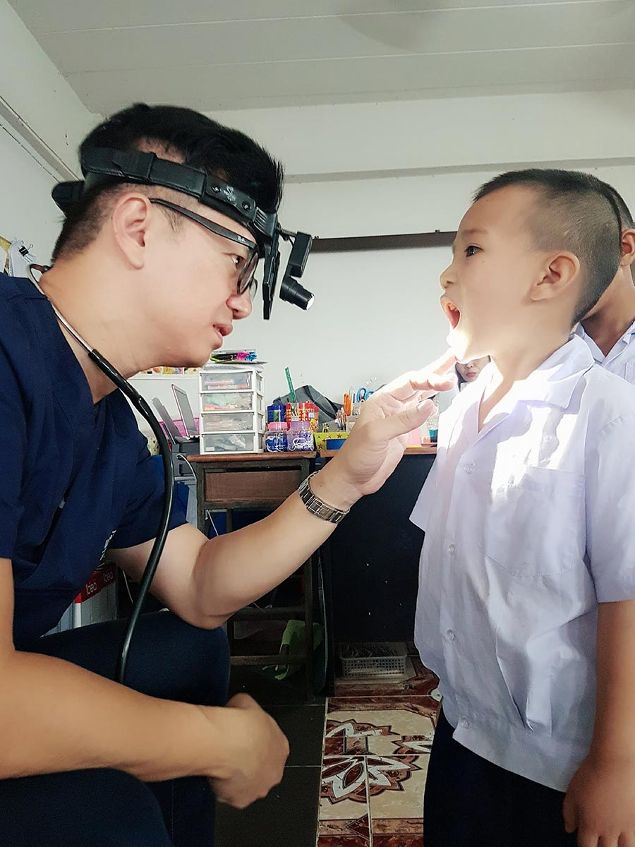 During the medical check-ups, we found dental and skin problems to be the few of the most prevalent issues faced by the children.