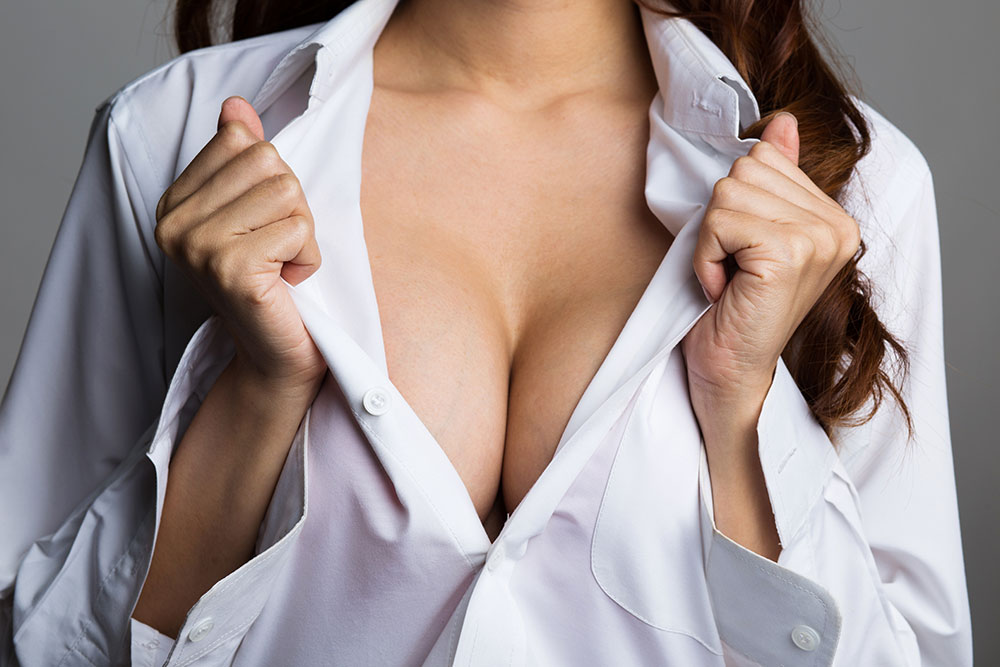Enhancing breasts through fat grafting