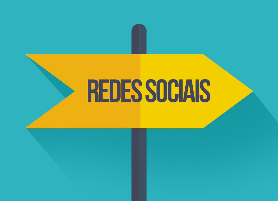 "placa amarela escrita ""redes sociais"""
