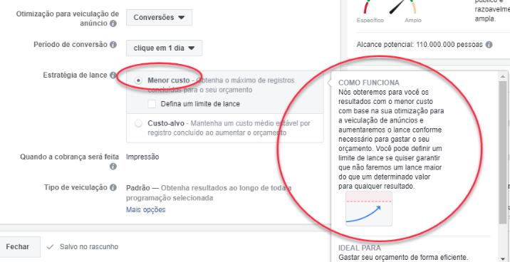 o lance automático de menor custo no facebook ads é a melhor forma de começar, mas depois você pode investir nos lances manuais para aumentar os seus ganhos.