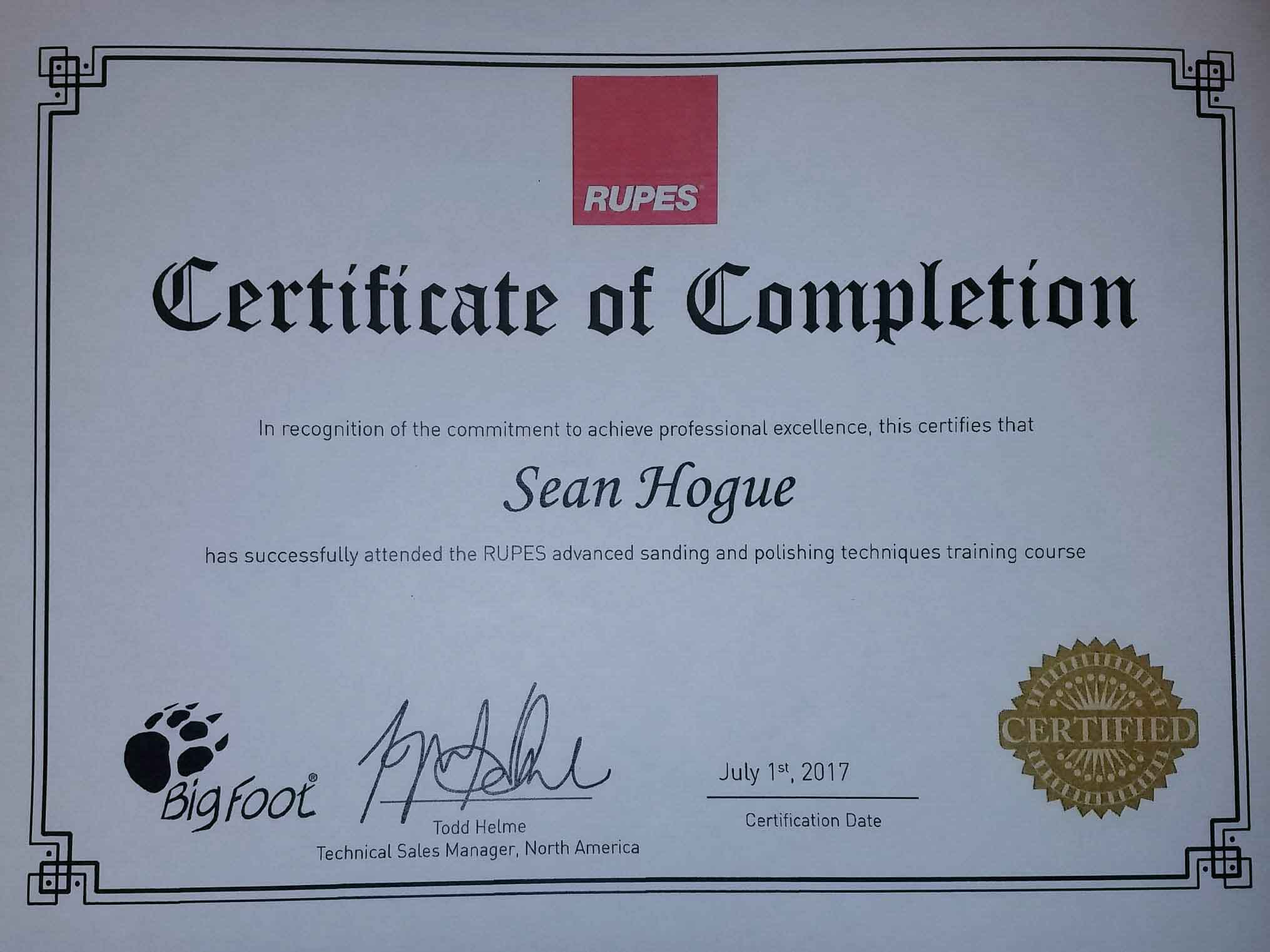 Repus Car Detailing Certification
