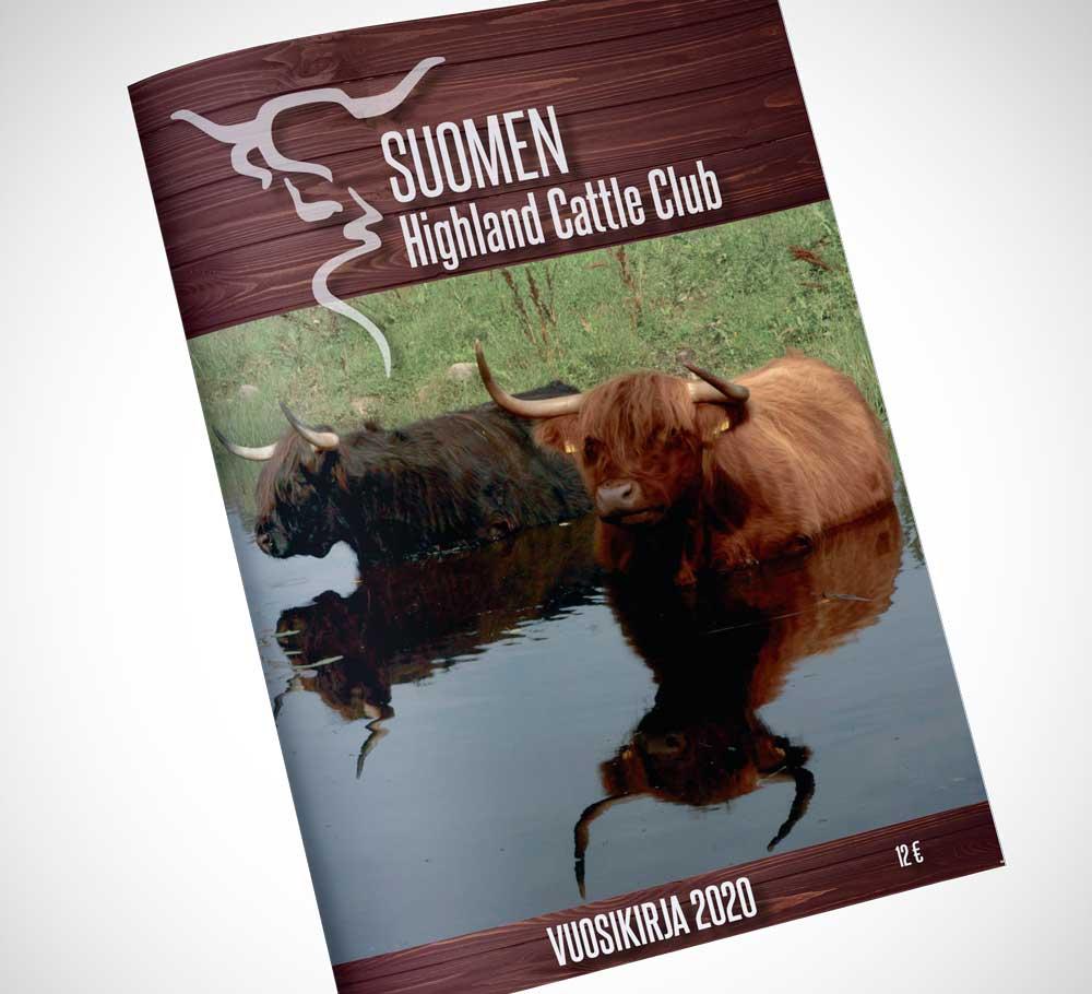 Suomen Highland Cattle Clubin vuosikirjan kansi