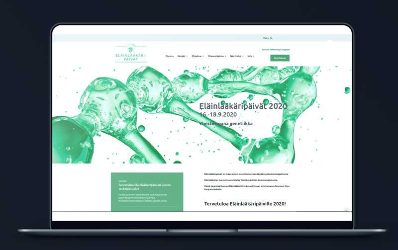 Eläinlääkäripäivien verkkosivusto