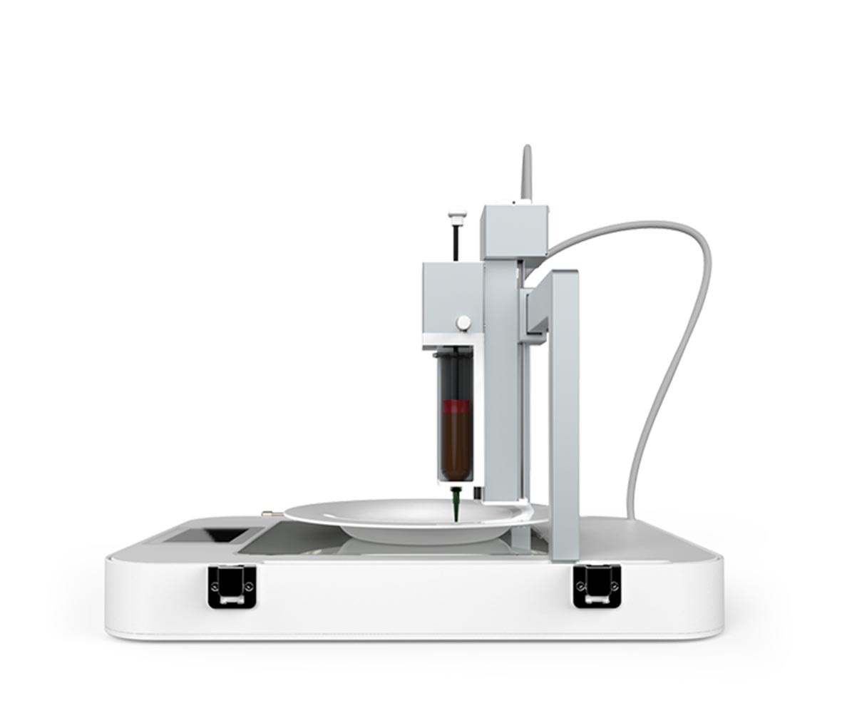 Photo of the 3D food printer by byflow